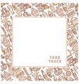 Postcard van food vector image vector image