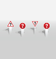 Question mark signs vector image vector image