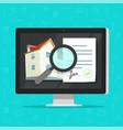 real estate buying agreement digital online audit vector image vector image