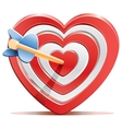 Red heart target aim with arrow vector image