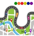 Road infographics Winding road with signs The vector image vector image