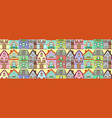 seamless pattern cottage houses vector image