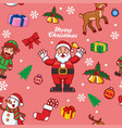 seamless santa claus and friend vector image vector image