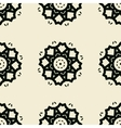 Seamless stylized flowers lace tile vector image vector image