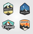 set adventure traveling logo outdoor design vector image