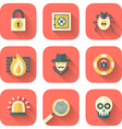 set app security icons vector image