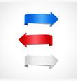 set colored decorative arrows vector image vector image