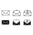 set envelopes icons email vector image vector image