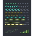 set military armament silhouettes vector image vector image