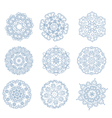 Set of abstract circular ornaments vector image