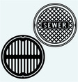 Sewer manhole vector image