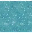 Snow and clouds pattern on blue background