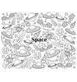 Space colorless set vector image vector image