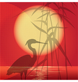 The hunting heron vector image vector image