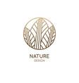 tropical plant logo round emblem leaf plant vector image
