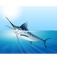 Tuna swimming in the sea vector image vector image