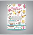 wake up slogan on brochure breakfast menu for vector image