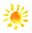 watercolor sun icon vector image vector image