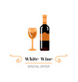 white wine and glass wine icon white wine vector image vector image