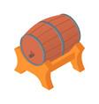 wood fresh beer barrel icon isometric style vector image