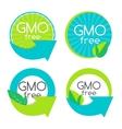 Gmo Free Label Set vector image