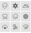 line snow icon set vector image