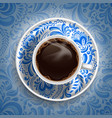 Coffee gzhel vector image