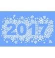 2017 background of snowflakes number text vector image vector image