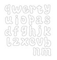 abstract hand-drawn doodle alphabet vector image