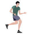 athlete a man on a run in minimalist style vector image