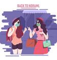 back to normal vector image vector image