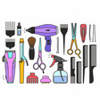 barber shop tools vector image vector image