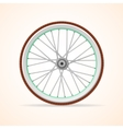 Bicycle vintage wheel vector image