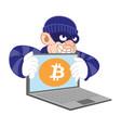 bitcoin ciber thief vector image