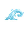 blue curly water wave on a vector image