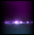 blue-purple wave abstract equalizer vector image vector image