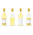 bottles white wine collection vector image vector image
