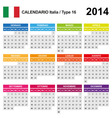 Calendar 2014 Italy Type 16