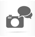 camera speech bubble icon vector image vector image
