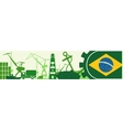 Cargo port Brazil flag in gear vector image vector image