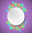 Celebration concept on violet background vector image vector image