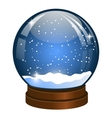 Christmas Snow globe with the falling snow vector image vector image