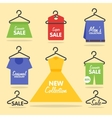Clothing hangers SALE signage and banners vector image vector image