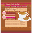 Coffee Shop Website Design vector image