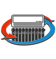 cooling and heating air conditioner symbol vector image