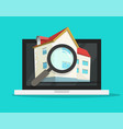 digital online searching or reviewing real estate vector image