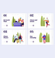 eco packing website landing page templates set vector image vector image