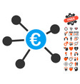 euro links icon with lovely bonus vector image