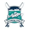 Fishing sport club sign vector image vector image