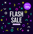 flash sale banner poster vector image vector image
